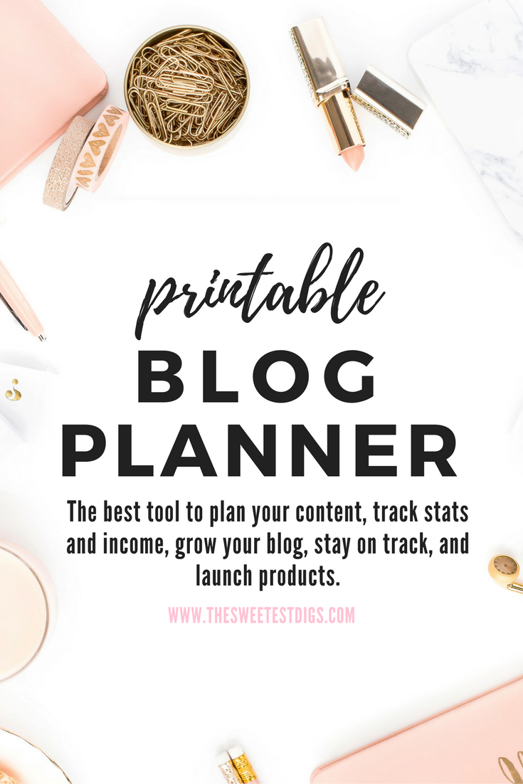 Printable Blog Planner | Blog Tools | Blogging Editorial Calendar and Worksheets | Blogger Guidebook
