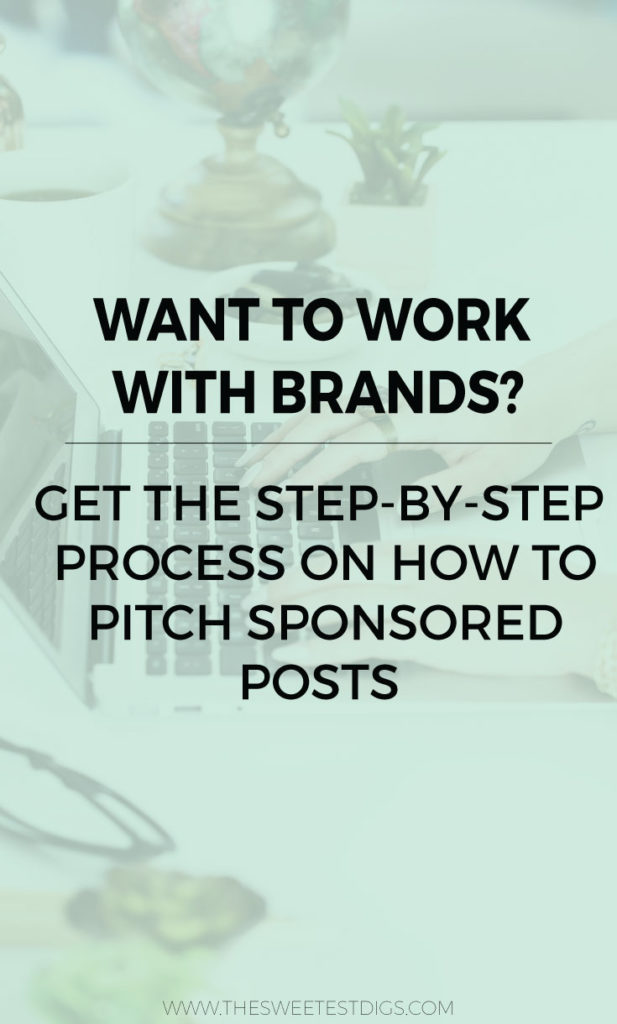 Want to work with brands? Here is my step by step guide on how to pitch sponsored posts.. and LAND THEM! This is a great way to make money as a blogger and monetize your blogging biz. Plus there is a free tracking sheet to download to keep it all organized! Click through for the how-to.