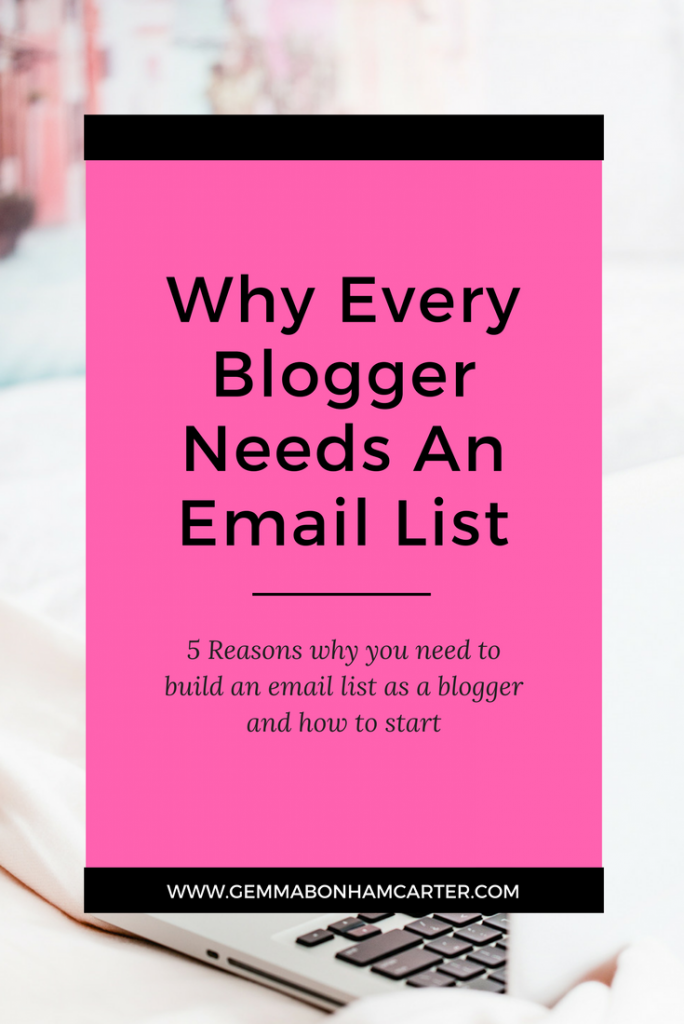 Blogger Email Lists 101 | If you aren't building an email list as a blogger, you're making a HUGE mistake. Here are the 5 reasons why you should build an email list to grow your sales and increase your audience from the beginning. Click through to read why, and tips on getting started!