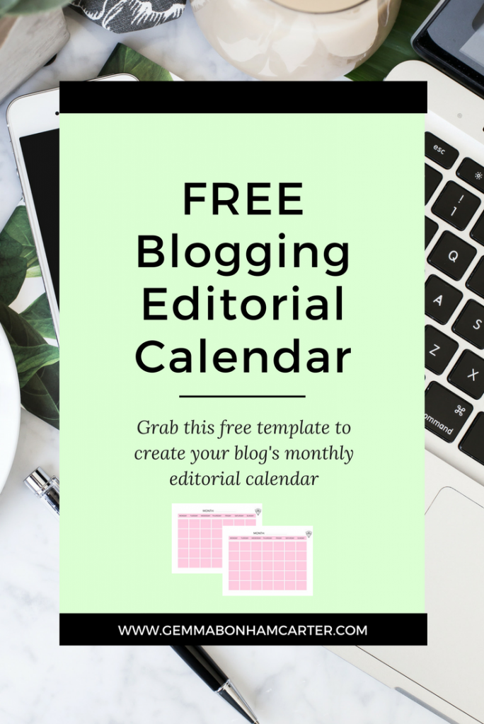 Free Blog Editorial Calendar Printable | How to use a blogging content planning system to grow your blog.