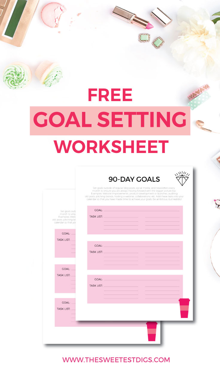 Blogging Goals | How to set goals for your blog and business | Blog Goal Setting Worksheet | Using a blog planner and editorial calendar