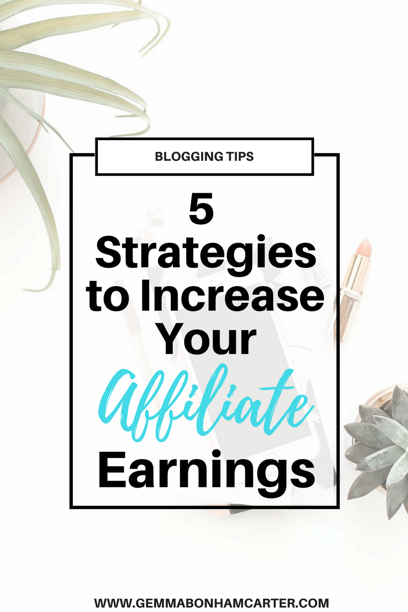 #Affiliate #marketing for bloggers. A great strategy for making money blogging! Here are 5 things you can do today to increase your affiliate earnings. Plus, where to get affiliate links, and a free tracking sheet!