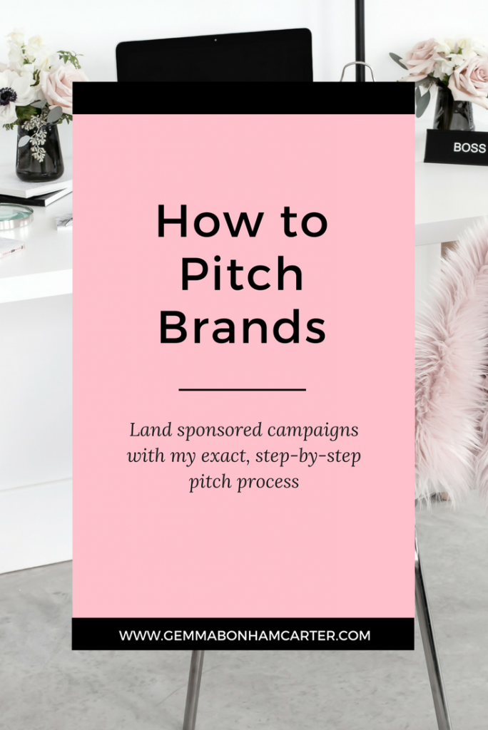 How to pitch brands to get sponsored posts and campaigns as a blogger. Click for my step by step process, including pitch email ideas and blog media kit templates.