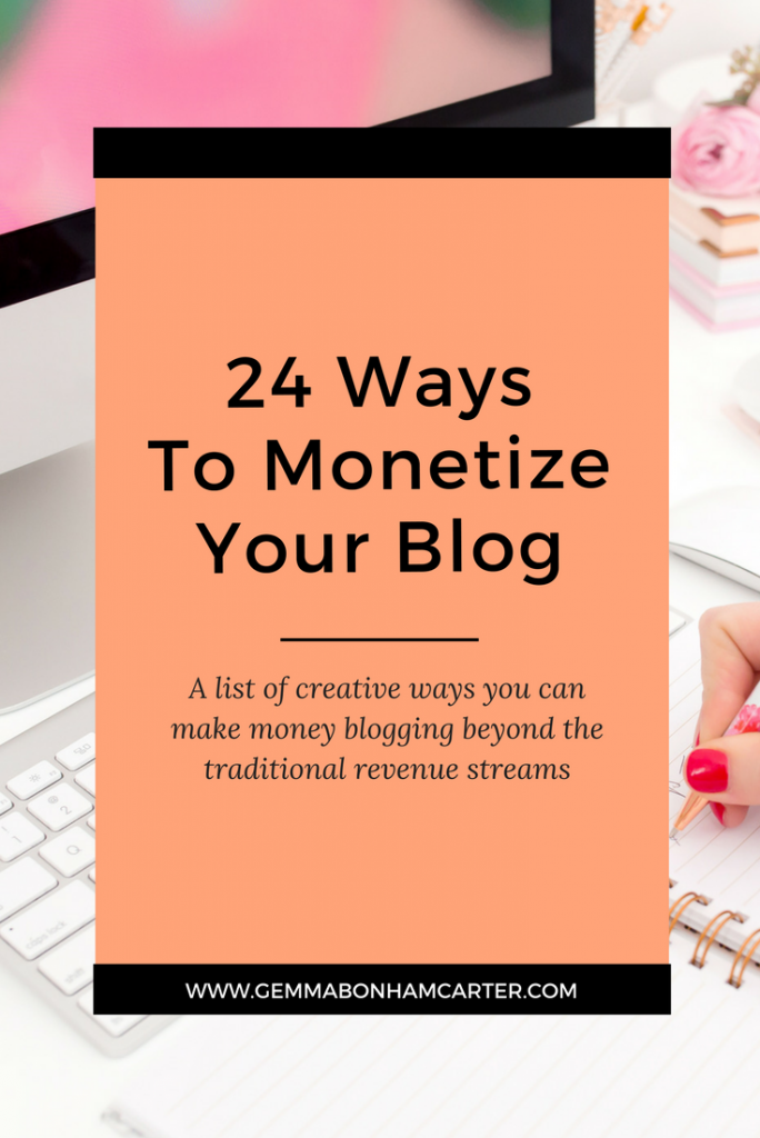 Want to make money blogging? Here are 24 creative ways to increase your income as a blogger and online entrepreneur.