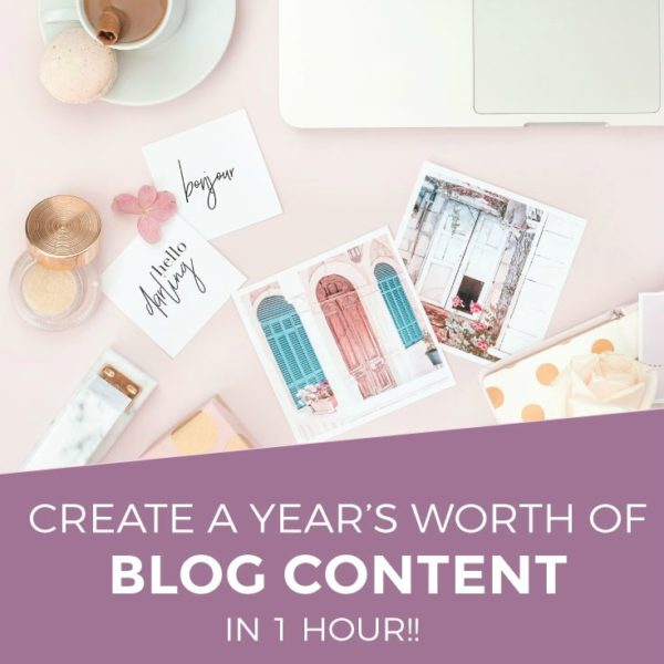 How To Create a Year's Worth of Blog Post Ideas in 1 Hour