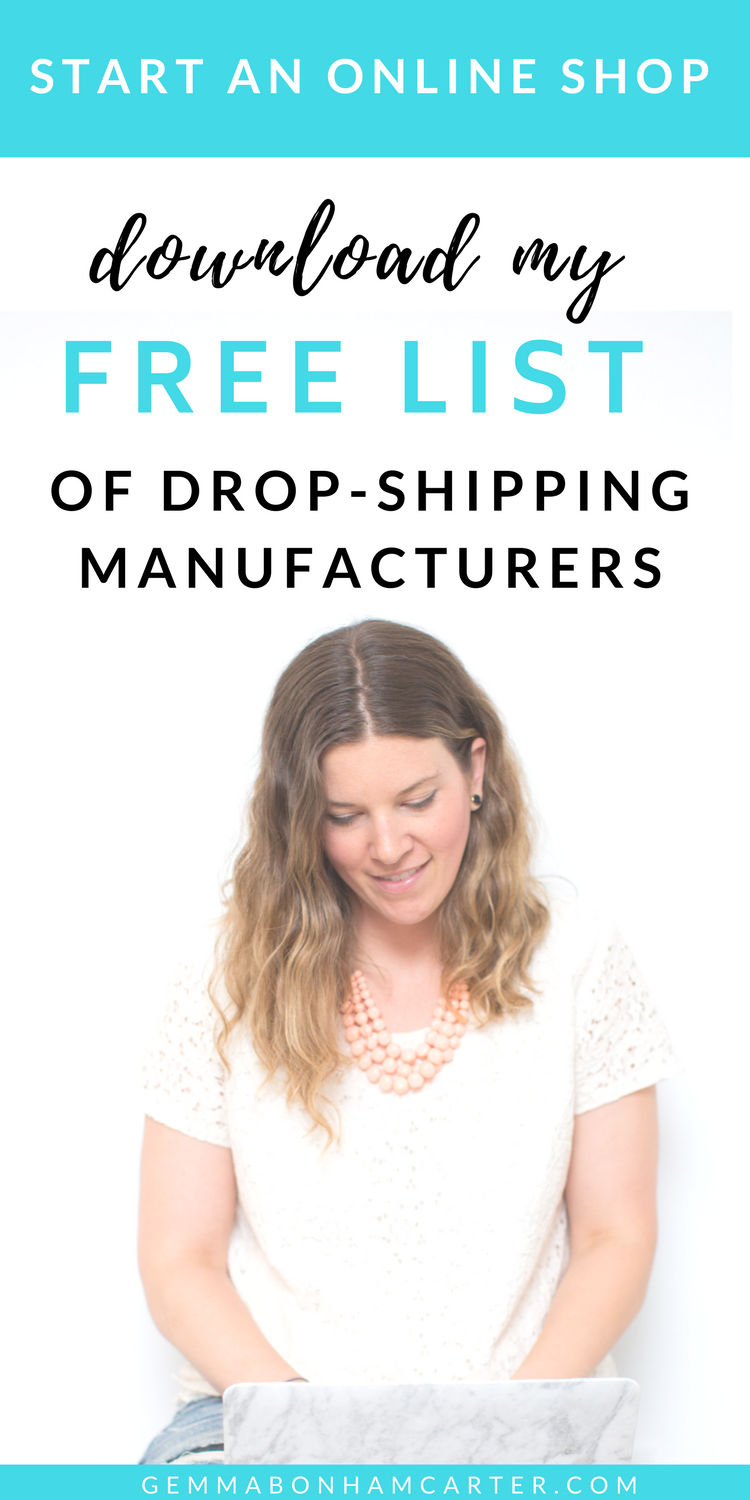 Want to start an online #shop to help grow your #blog income? Get the info on creating a line of physical products to sell on Etsy, Amazon, eBay, Shopify, etc using #dropshipping #manufacturing.