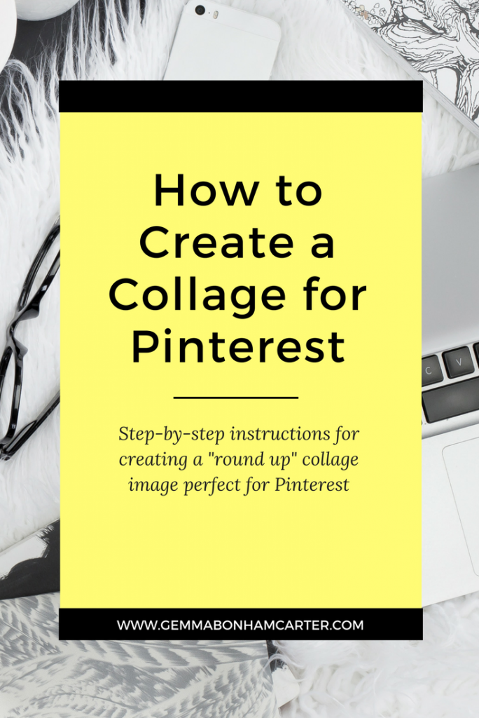 How to create a round-up blog post using Canva. Create this pinnable graphic with a collage of photos - great to drive traffic from Pinterest.