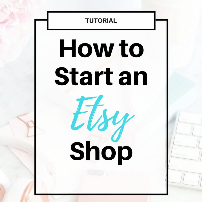 How to Start an #Etsy Shop | Get the step-by-step guide on how to launch an online shop on Etsy. Including free guide and 40 free listings!