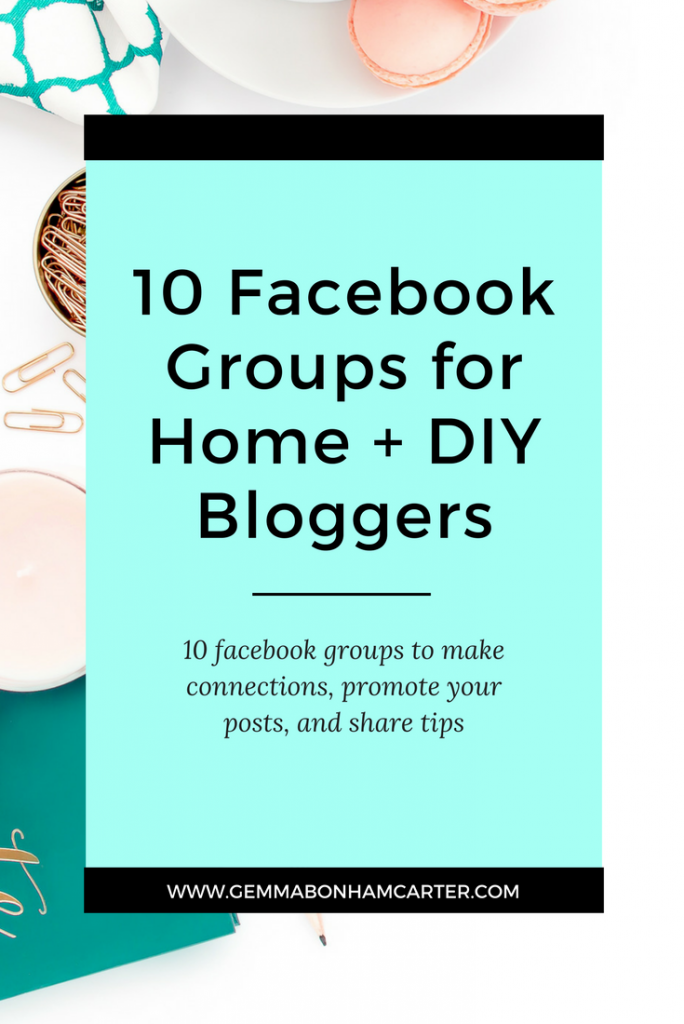 10 Facebook groups you NEED to join if you are a blogger. If you blog about DIYs, home decor, or design, these groups are going to be your go-to spots for collaborating, building community, sharing resources, and generating traffic! Click through for the full list
