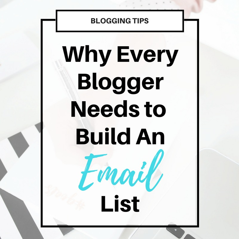 Why You Need to Build an #Email List as a #Blogger. The 5 reasons why you should grow an email list to increase your sales and traffic.