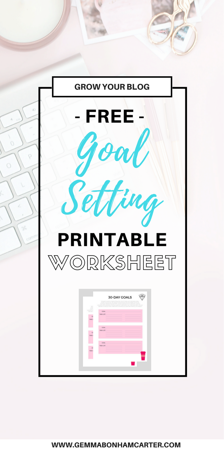 Free #Blogging #Goal Setting #Printable Worksheet | How to set goals to maximize your productivity and grow your blog fast!