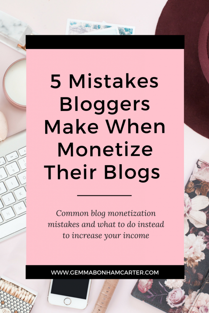 Want to make money blogging? Don't make these blog monetization mistakes. Click through to find out what they are and how to avoid them.