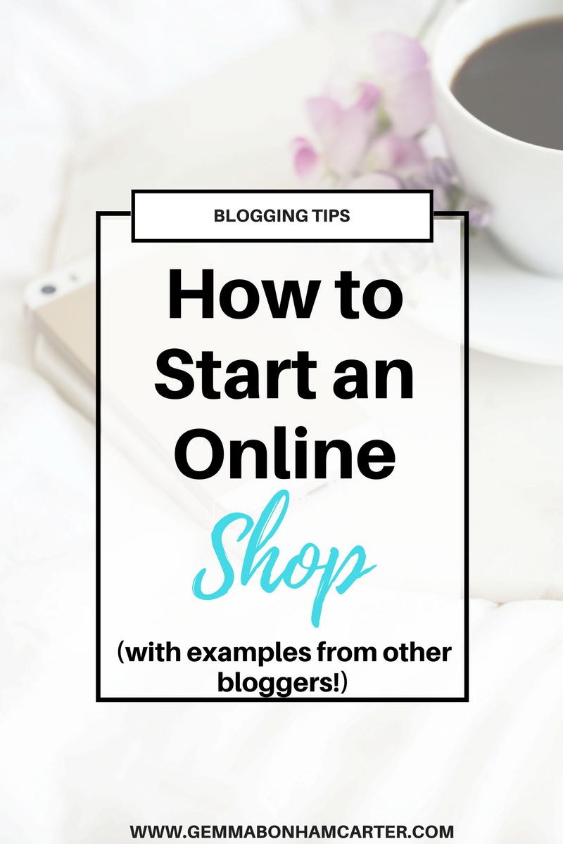 Start an online shop on your #blog! Here are 8 Bloggers who sell Products through their Blog. A great way to make money blogging!