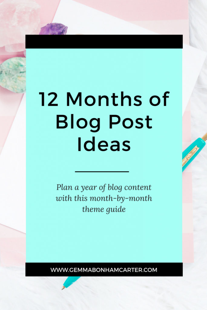 Seasonal Blog Post Ideas for Every Month of the Year - perfect for home, DIY and lifestyle bloggers. No more writer's block when you use this as your guide to blog content creation!