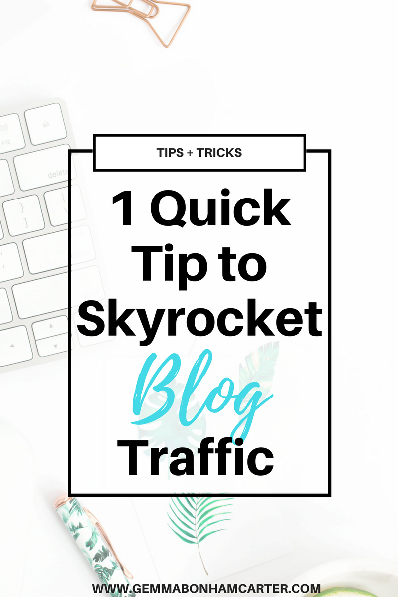 Want one simple, easy tip to increase your #blog traffic? Click through to get this juicy secret strategy that will help drive traffic from Pinterest and google search. A must for any blogger!