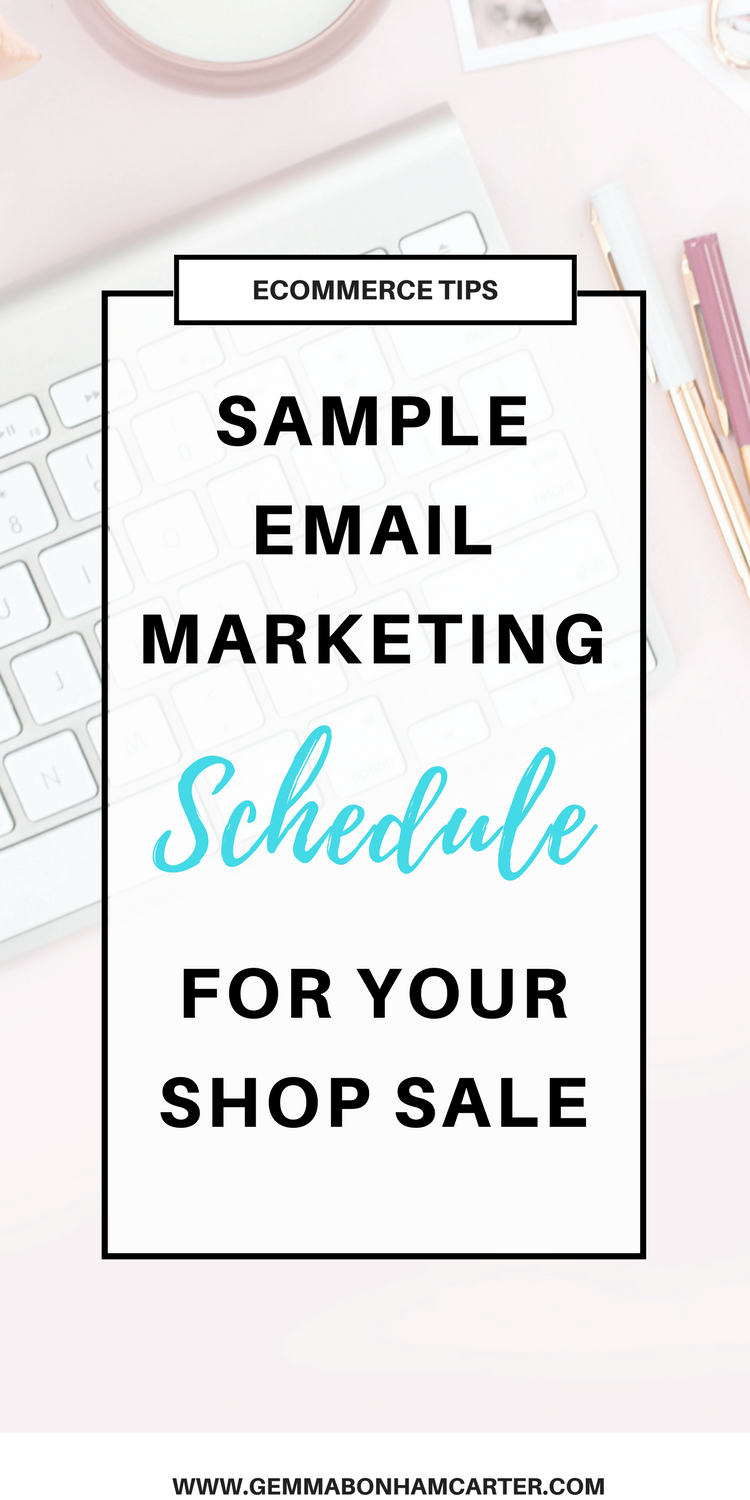 #Holiday #Email #Marketing Campaign for Online #Shop Owners. Don't know what to write in your email blasts? Use this sample schedule! Great for etsy or shopify shops!