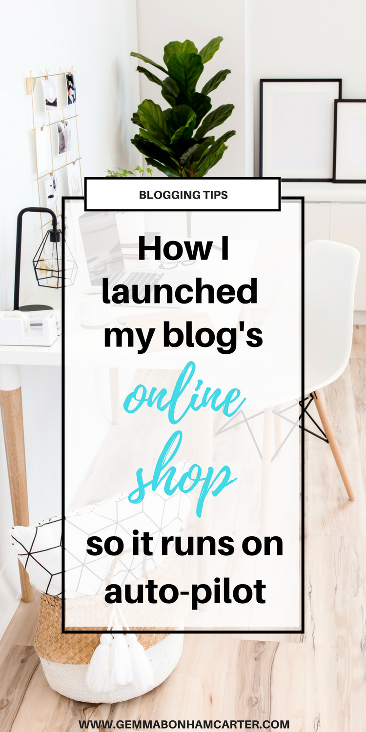How to start an #online #shop. Are you a #blogger? #Monetize with an online shop! Click to see how I run mine practically on autopilot.