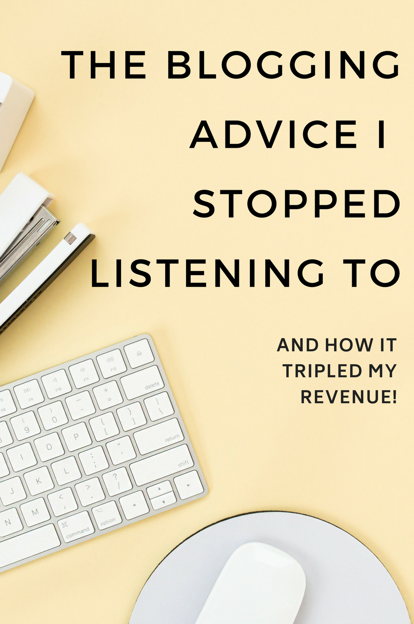 The critical advice and mindset shift you need in order to turn your hobby blog into a full time business. Click to find out what tripled my blog income. #blogging #bloggingtips #entrepreneur #advice #makemoneyblogging #startablog #bloggingadvice #blogger