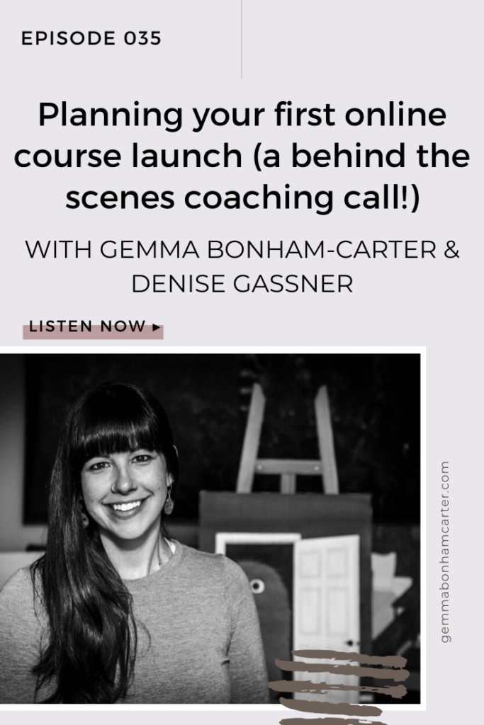 Ep35: Planning your first online course launch (a behind the scenes coaching call!)