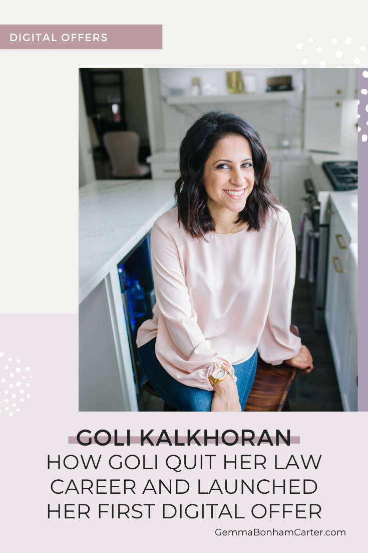 Ep46: How Goli quit her law career and launched her first digital offer